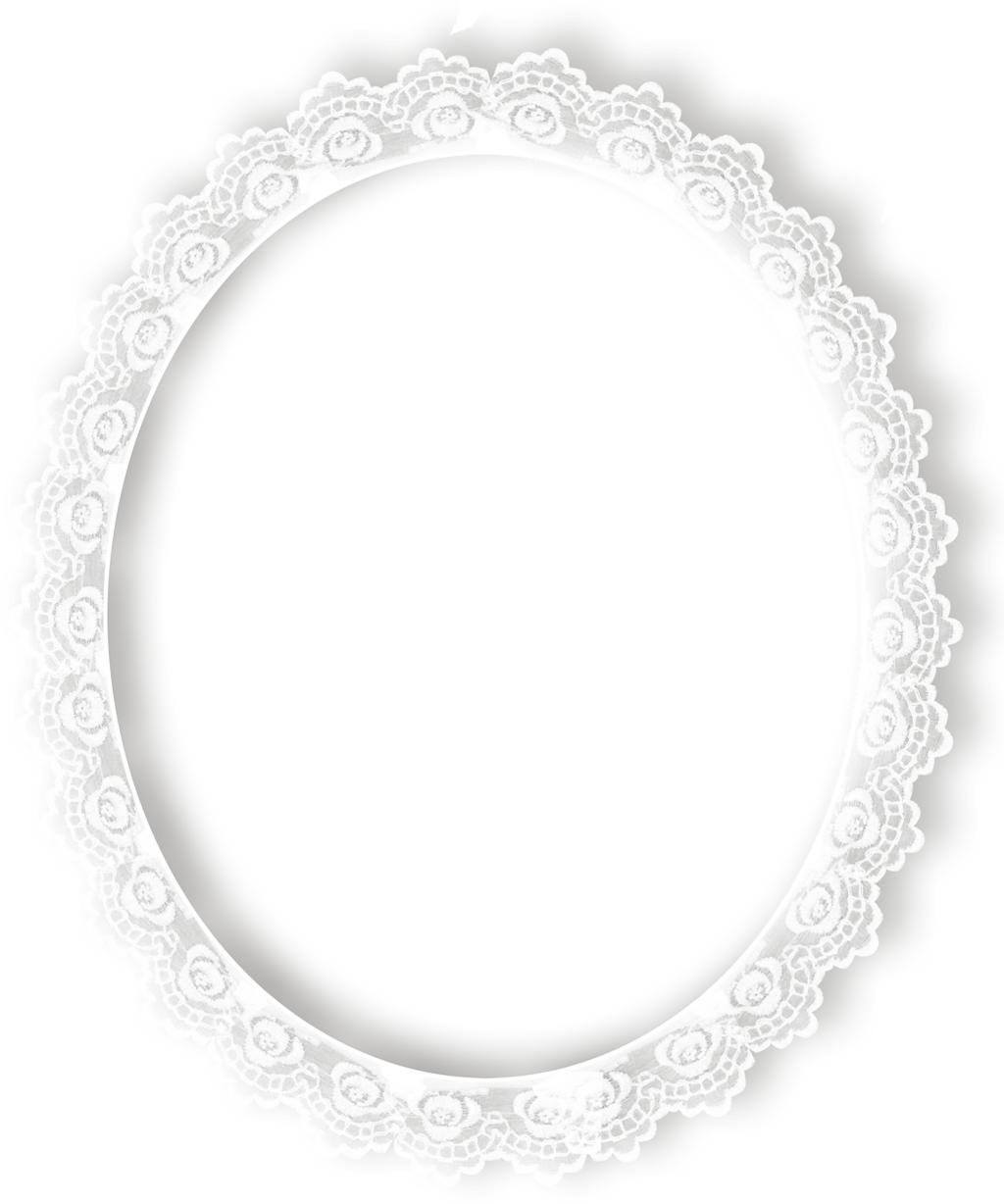 Frame white sticker by. Oval clipart lace