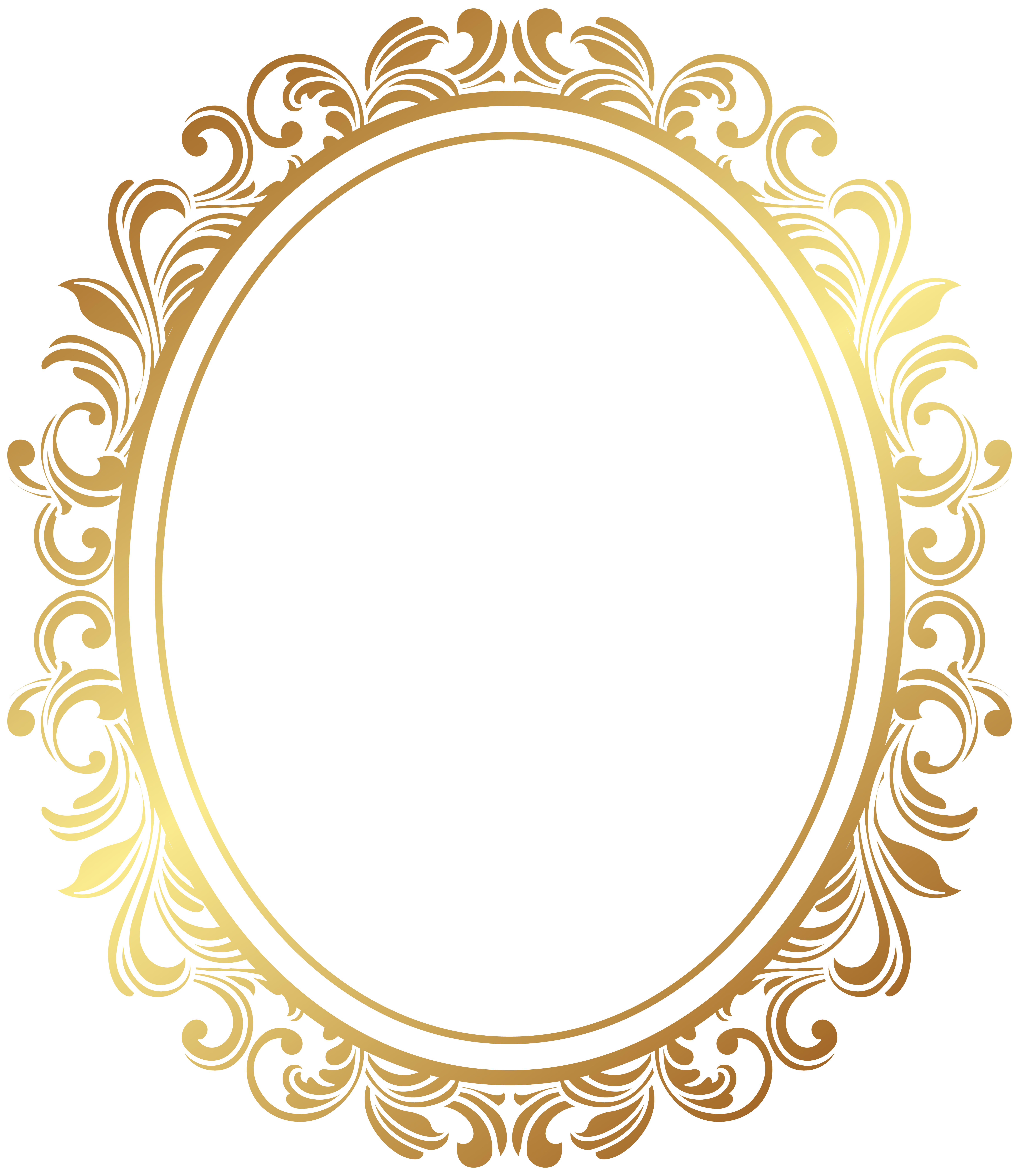 Picture frame deco clip. Oval border png