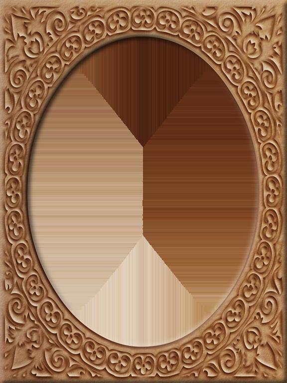 Oval clipart round mat. Presentation photo frames tall