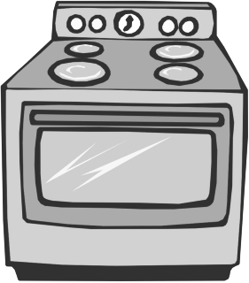 Oven clipart. Bw template cleaning hacks