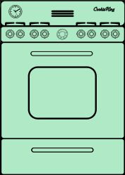 Oven clipart. Bw template pinterest paper