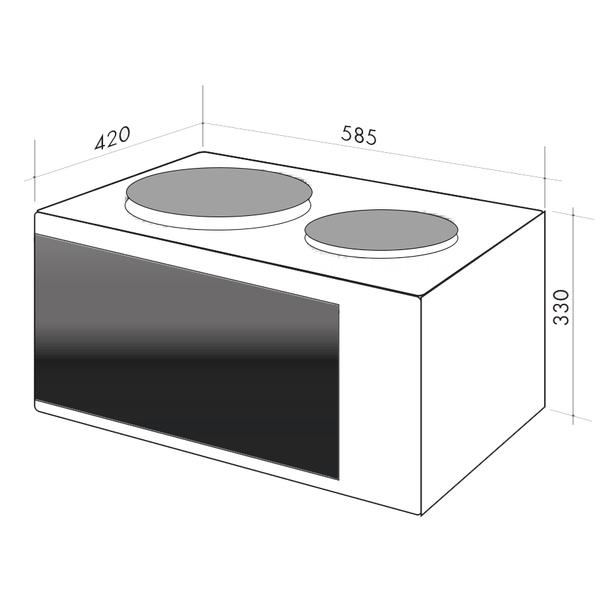 Oven clipart kitchen furniture. Artusi litre vulcan mini