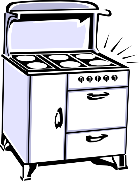 Oven clipart kitchen furniture. Antique stove range or