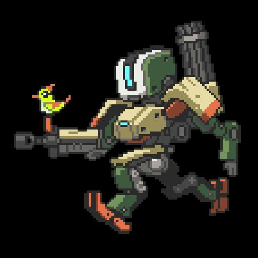 Overwatch bastion png. Image pixel wiki fandom
