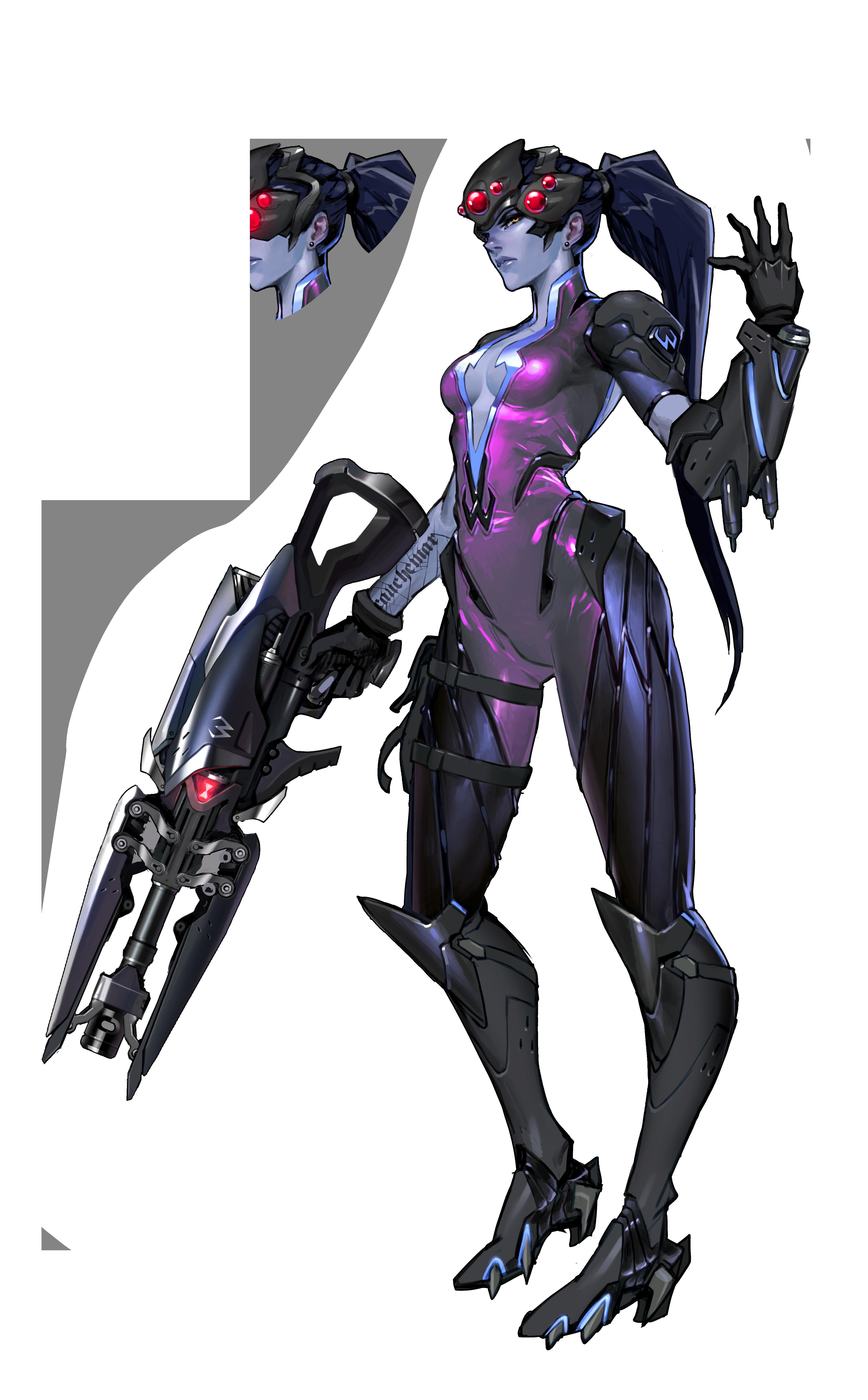 Overwatch character png. Art female design pinterest