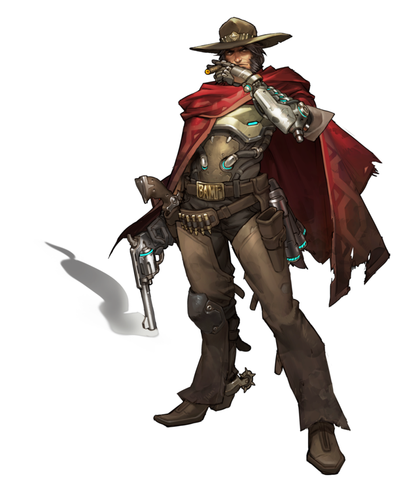 Mccree by plank on. Overwatch character png