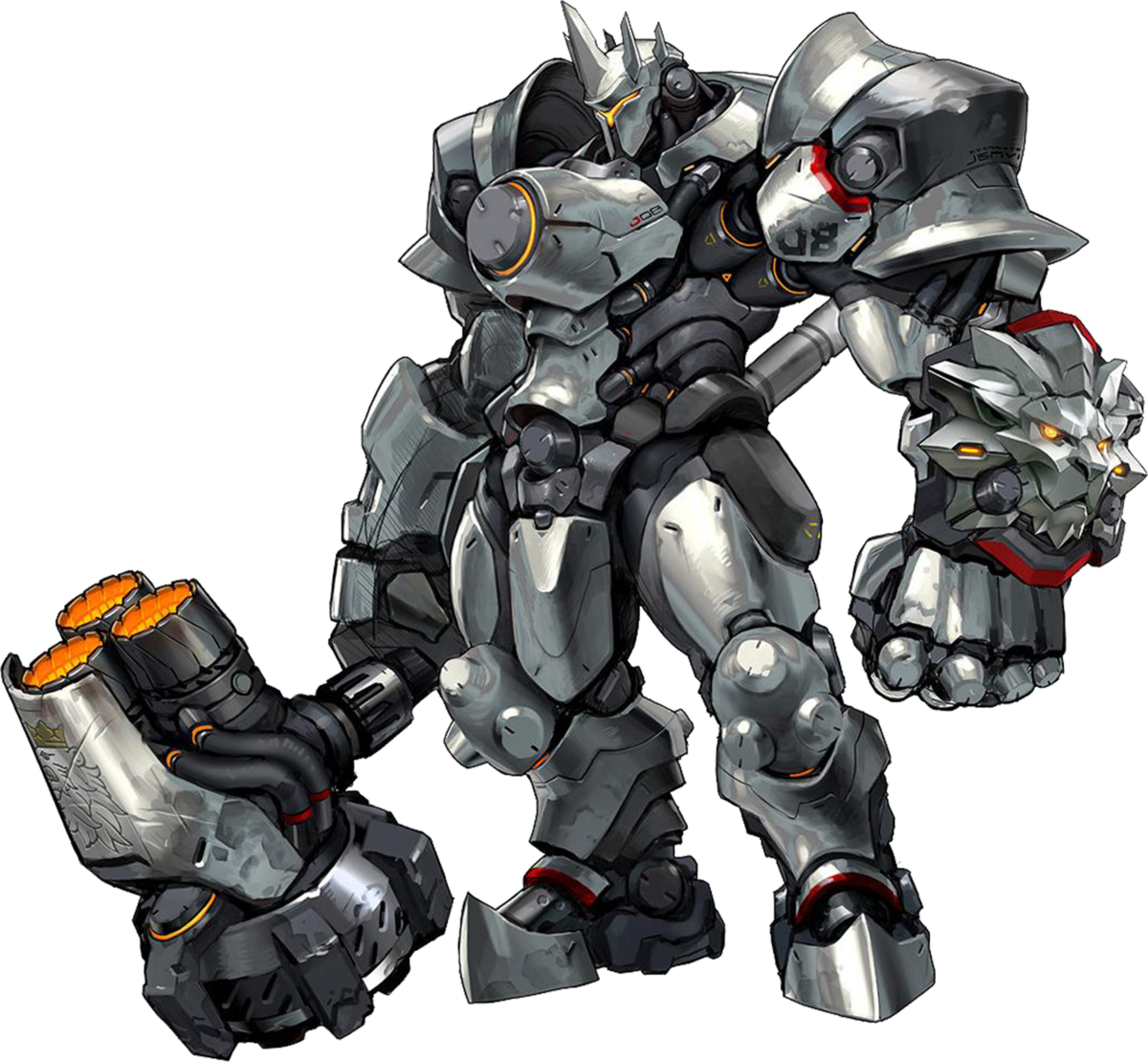 Overwatch character png. Image reinhardt pooh s