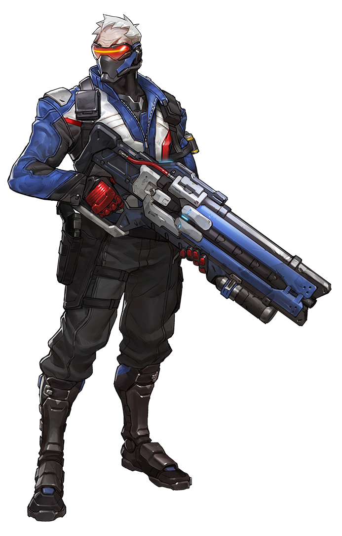 Soldier from game art. Overwatch characters png