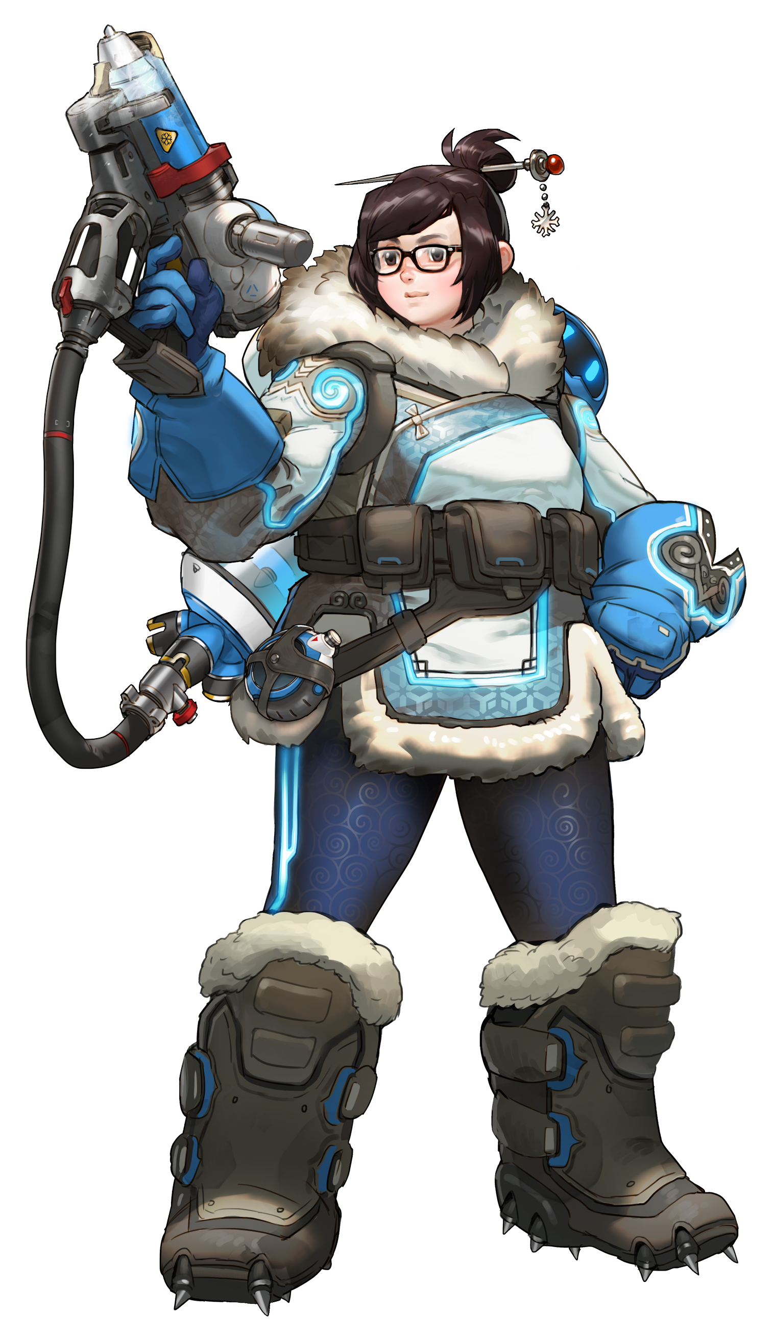 Overwatch characters png. Image mei official game