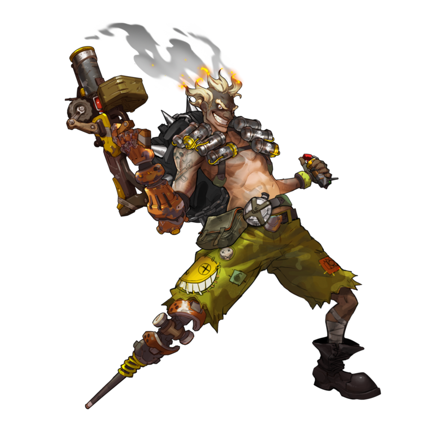 Junkrat by plank on. Overwatch characters png