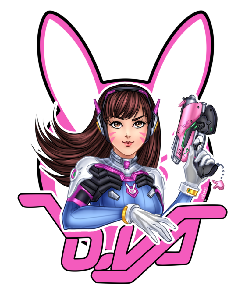 D va by laminanati. Overwatch dva png