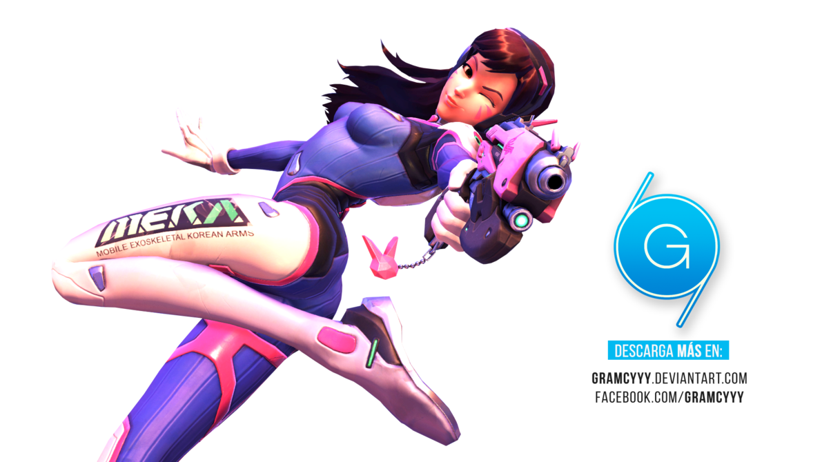Render by gramcyyy on. Overwatch dva png