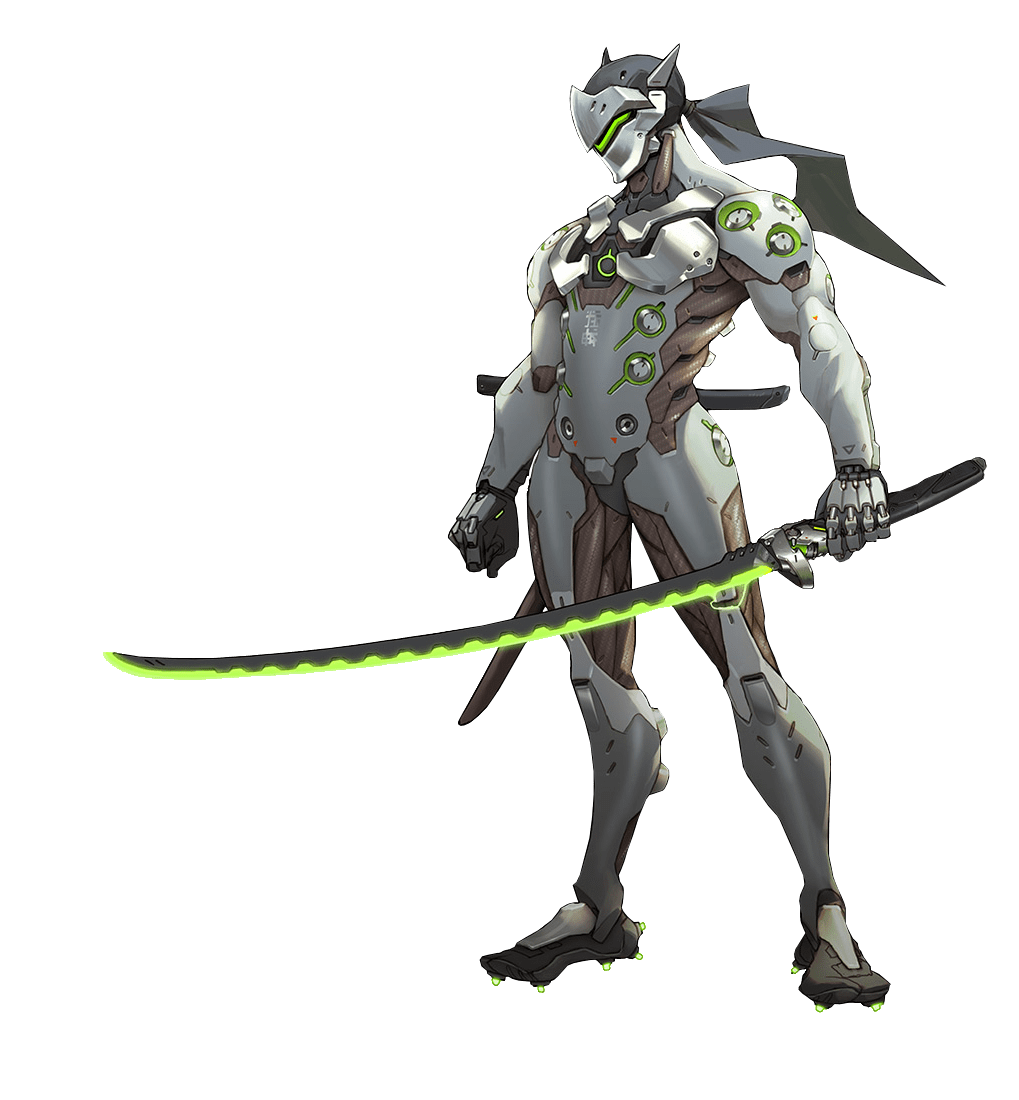 Overwatch genji png. Transparent stickpng games
