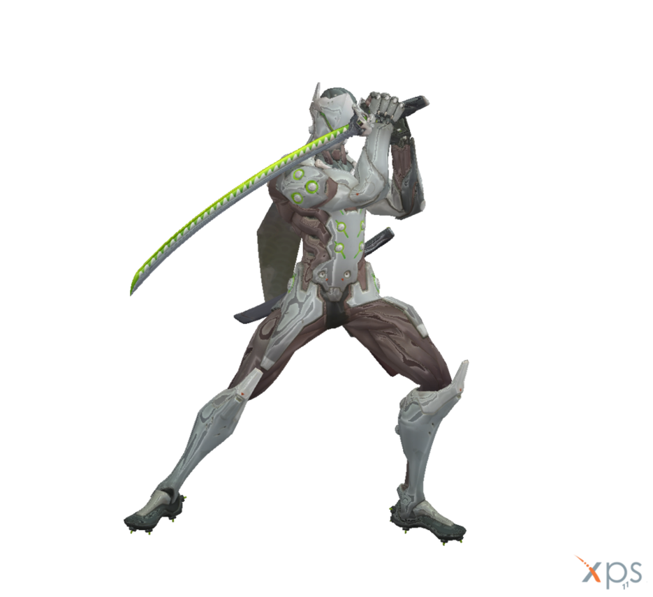 Overwatch genji png. For xnalara by rpgxplay