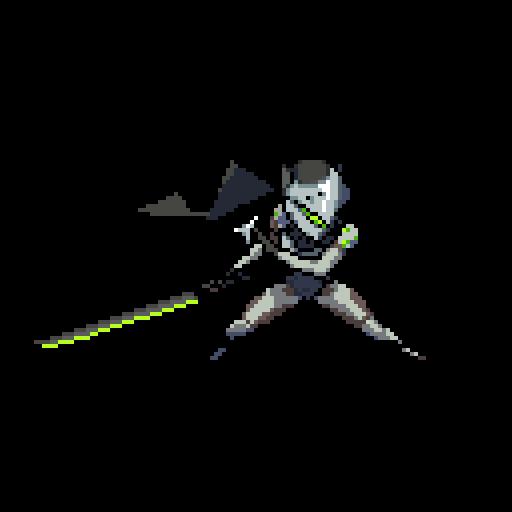 Image genji pixelb wiki. Overwatch gif png