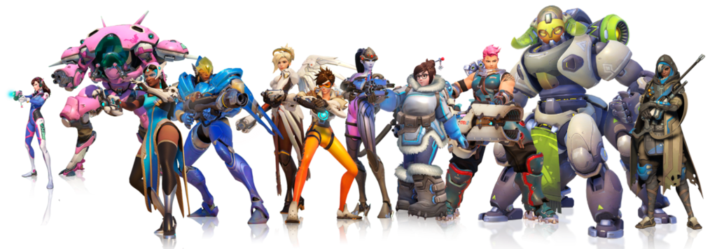 Overwatch heroes png. React glamorous over an
