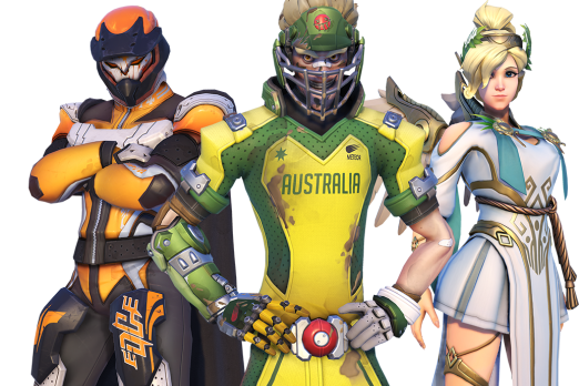 Overwatch heroes png. Summer games begin with