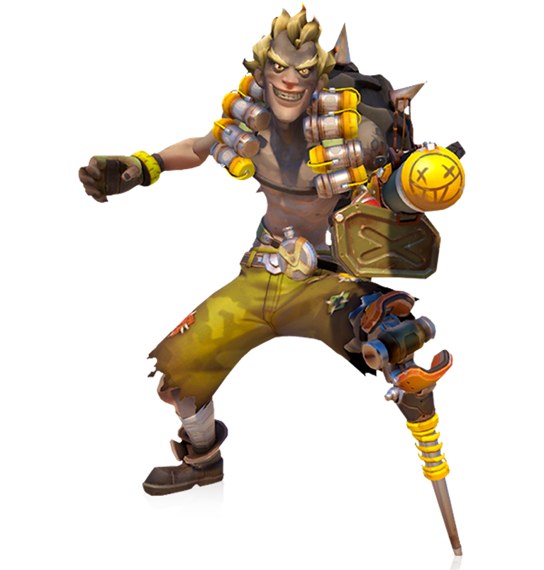 Overwatch junkrat png.  for free download
