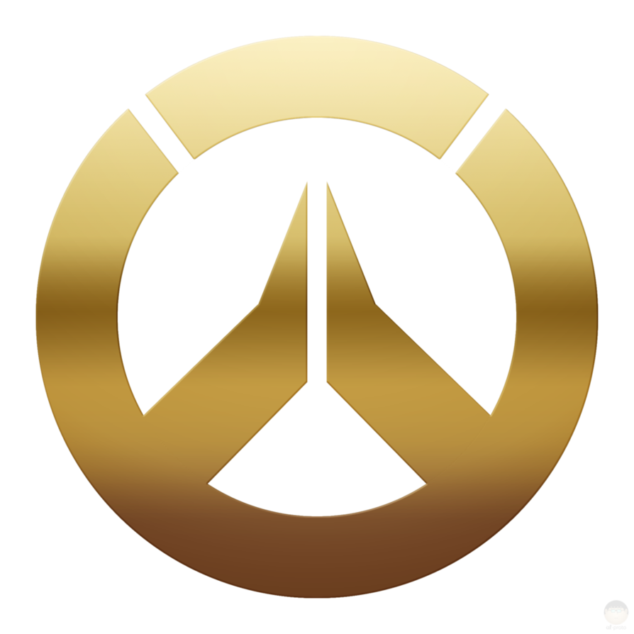 Overwatch logo png. Anniversary gold brighter by