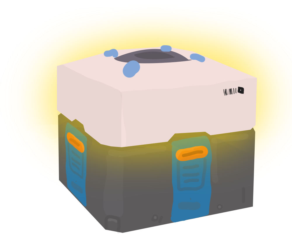 Overwatch loot box png.  for free download