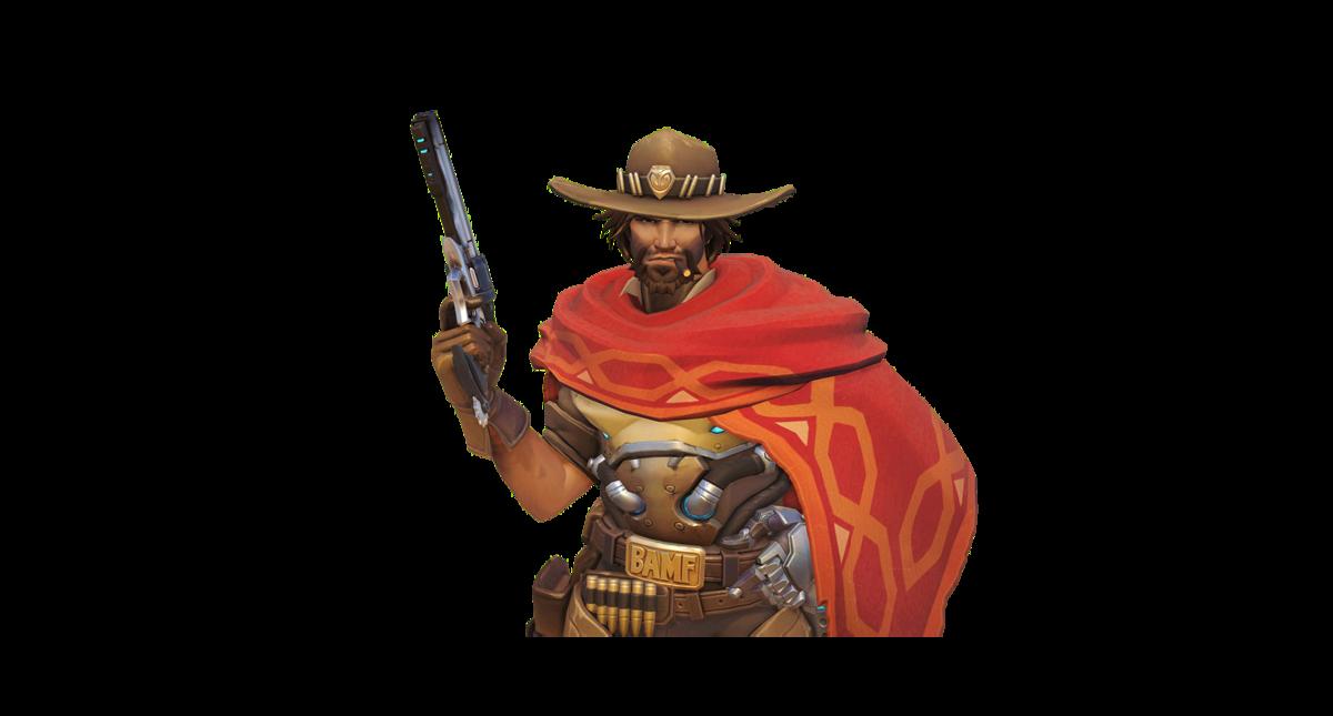 Ten ton hammer hero. Overwatch mccree png
