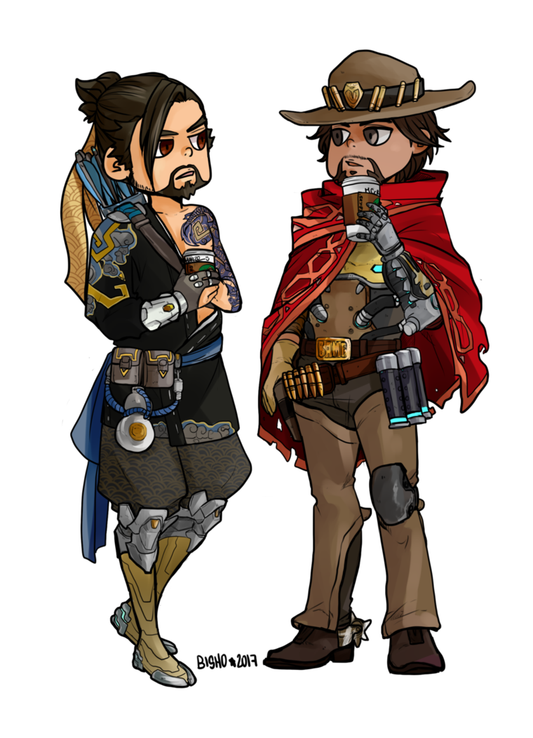 Overwatch mccree png. Commission hanzo and by
