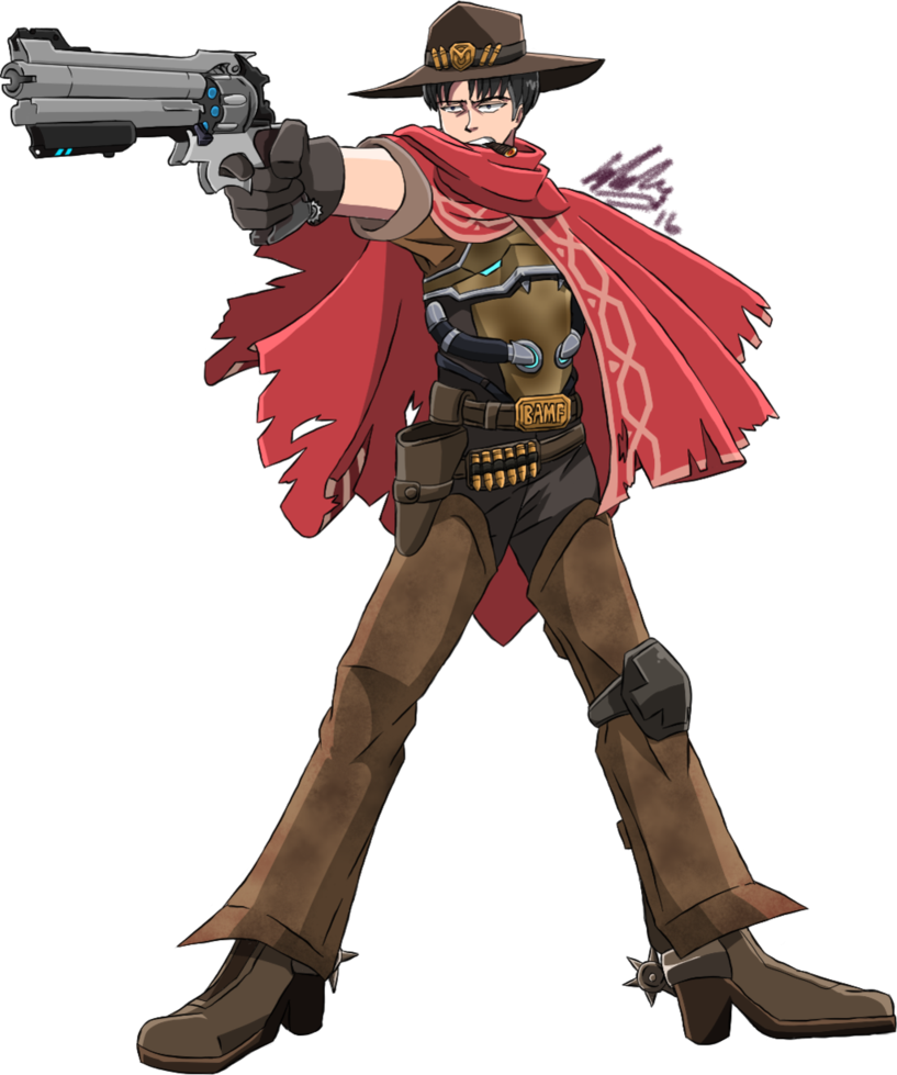Overwatchxsnk aot levi as. Overwatch mccree png