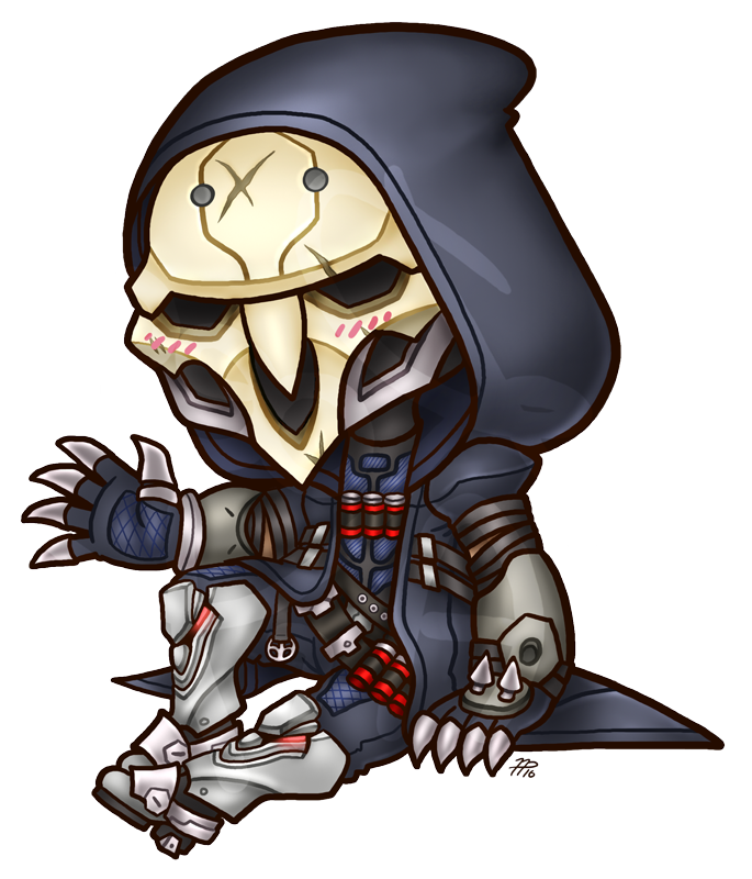 Image chibi by roseannepage. Overwatch reaper png