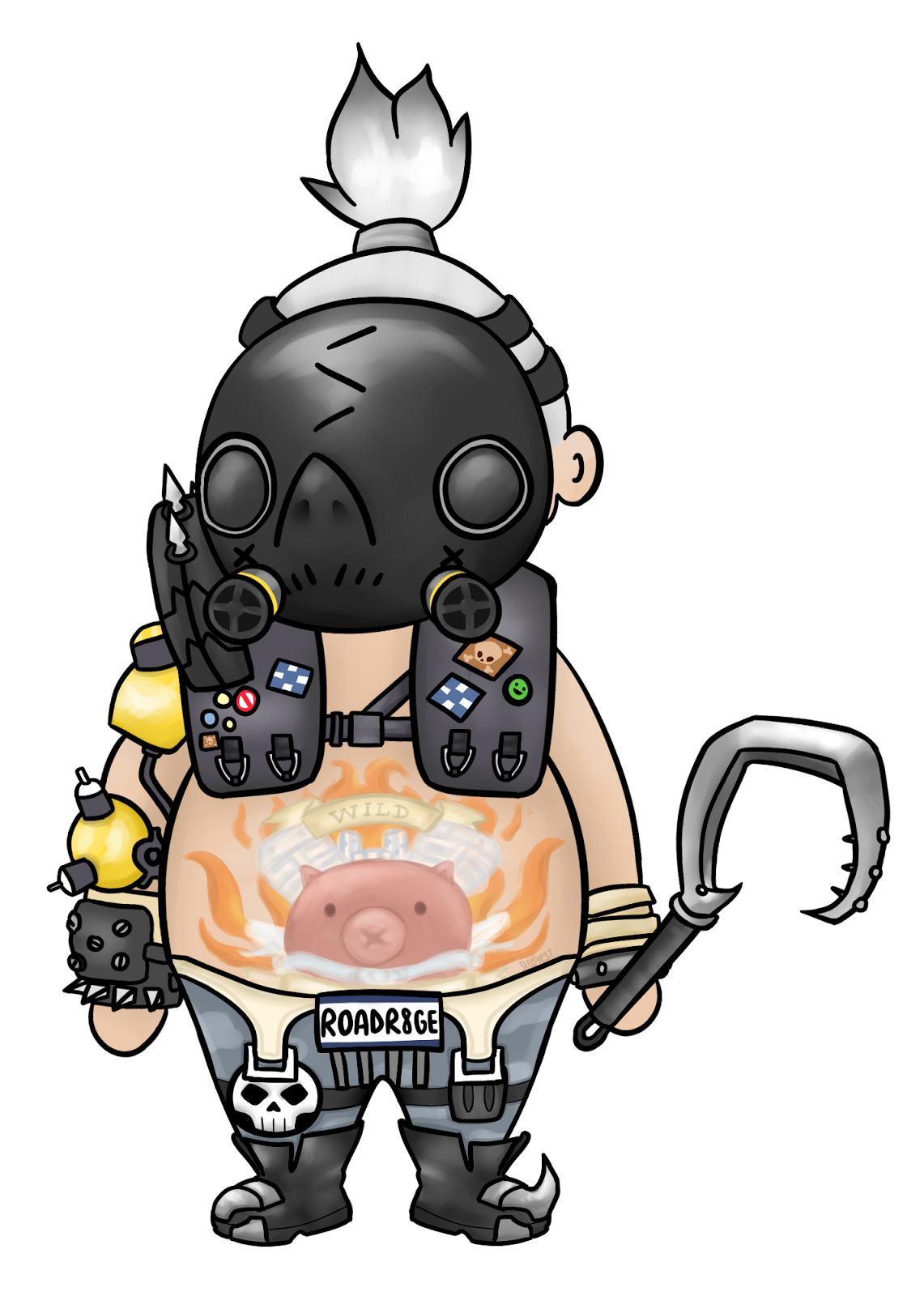 Fanart . Overwatch roadhog png