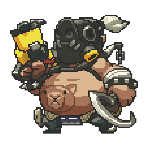 Image pixel wiki fandom. Overwatch roadhog png