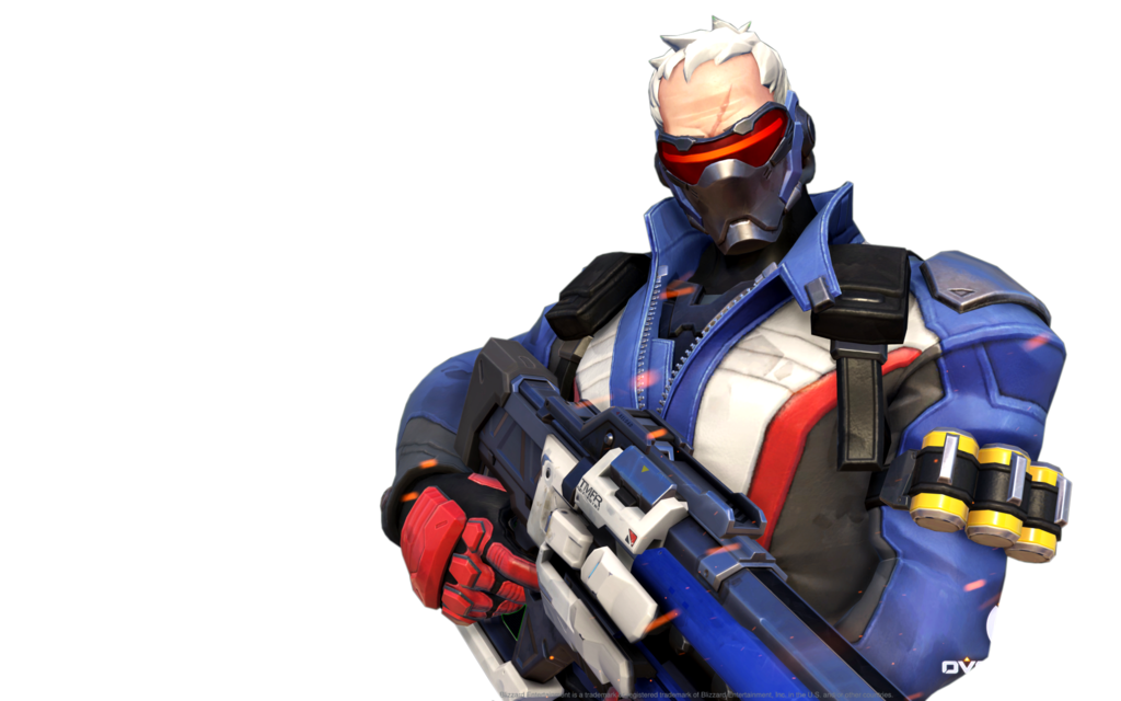 Overwatch soldier 76 png. Render by popokupingupop on