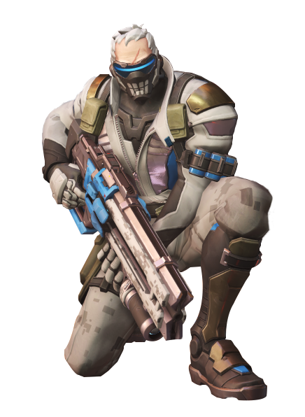 Overwatch soldier 76 png. Render bone updated by