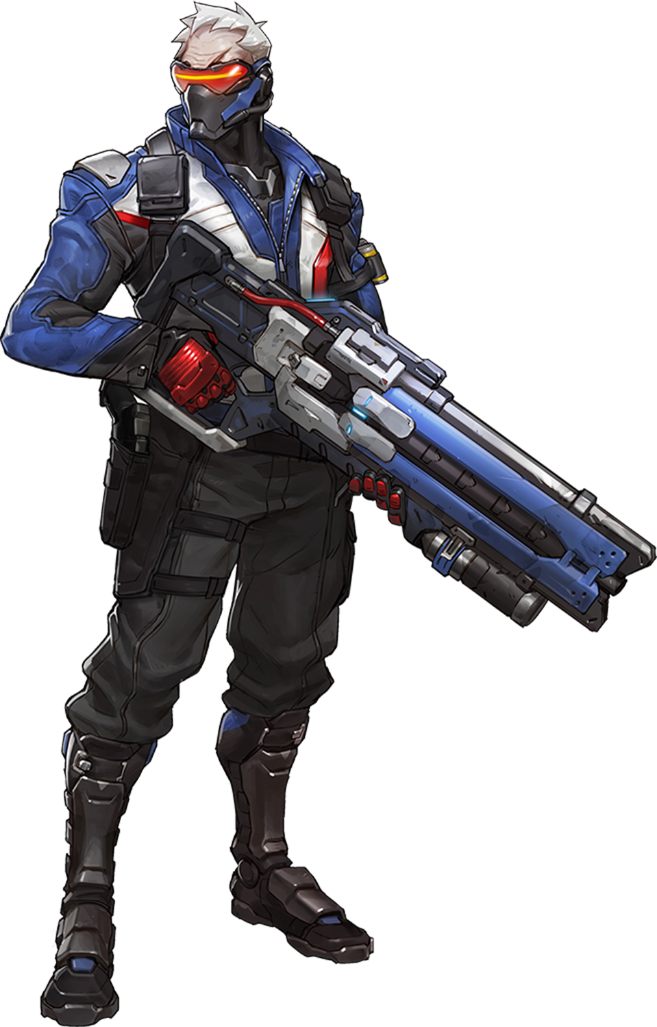 Wiki . Overwatch soldier 76 png