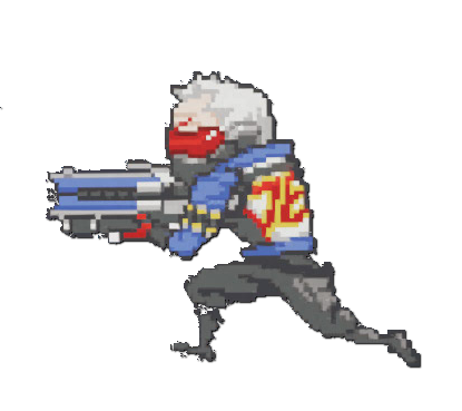 Image spray pixel wiki. Overwatch soldier 76 png