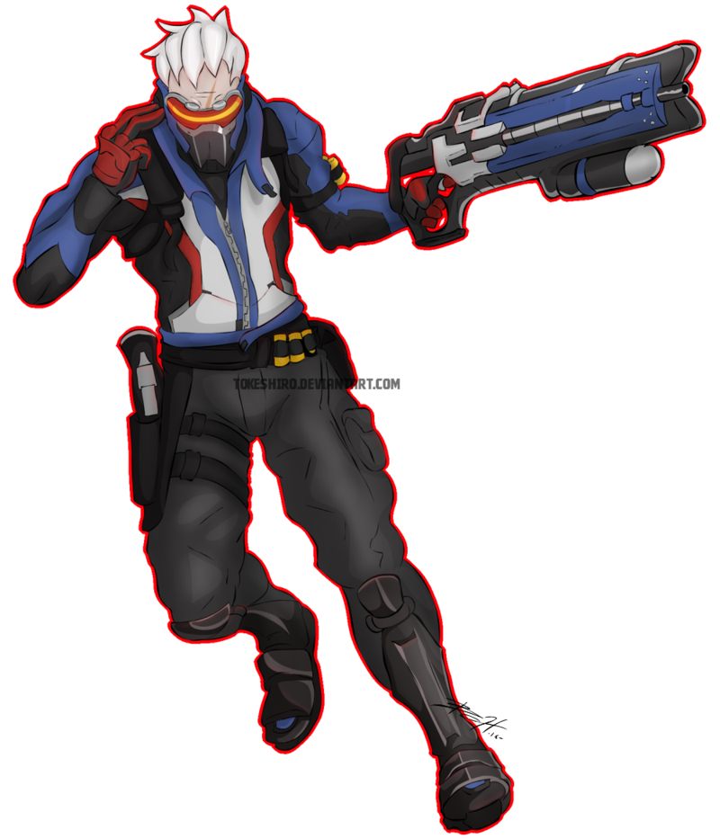 Overwatch soldier 76 png. By tokeshiro on deviantart