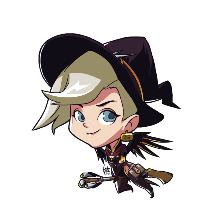 Overwatch spray png. Witch mercy alternate cute