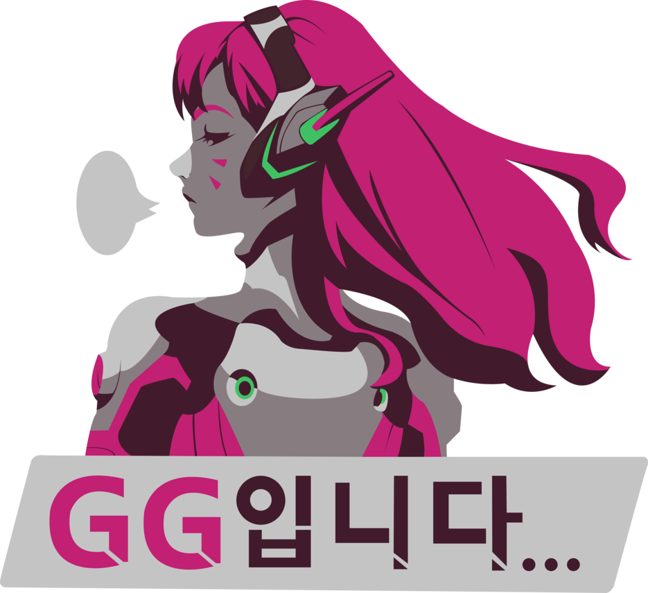 D va by bloodyhell. Overwatch spray png