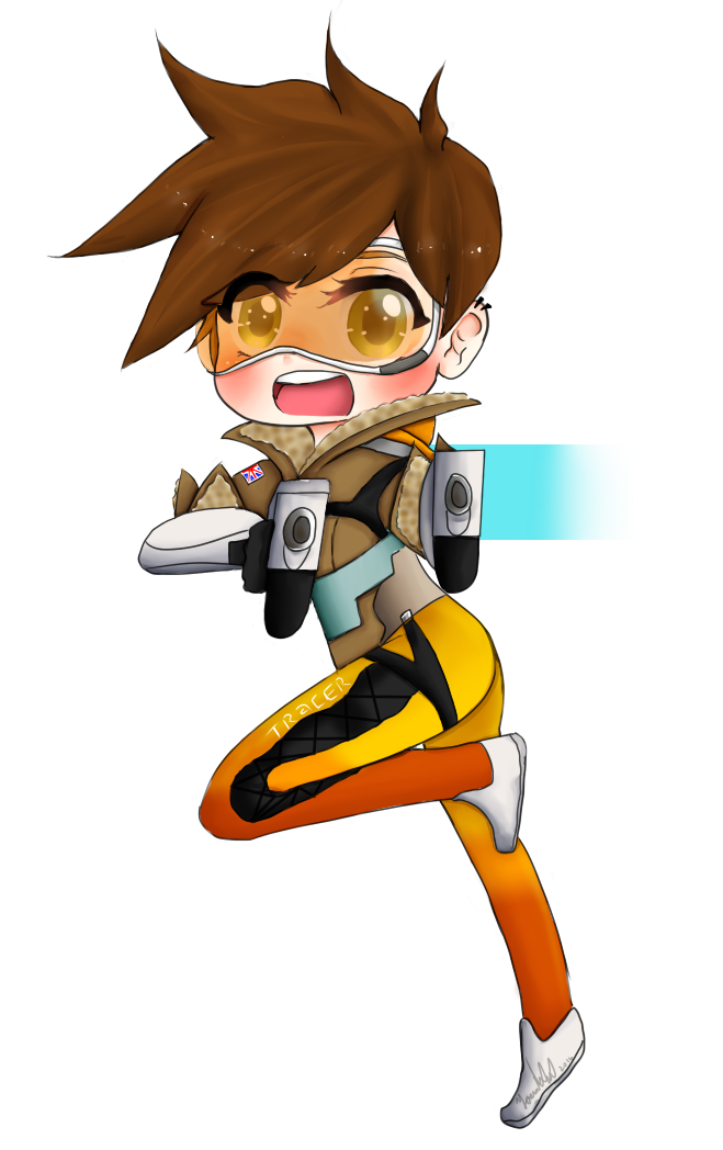 Overwatch tracer png. Chibi key chain for