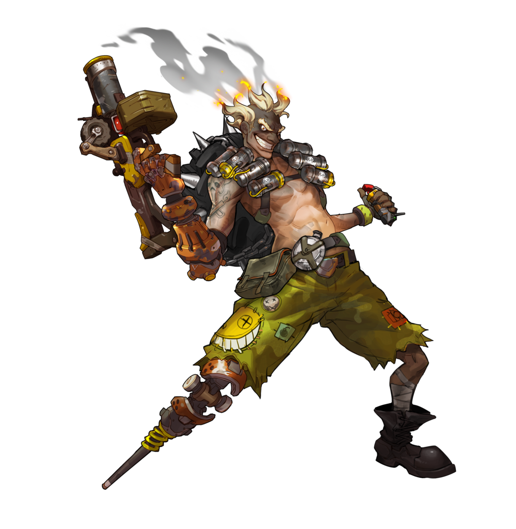 Junkrat by plank on. Overwatch transparent png