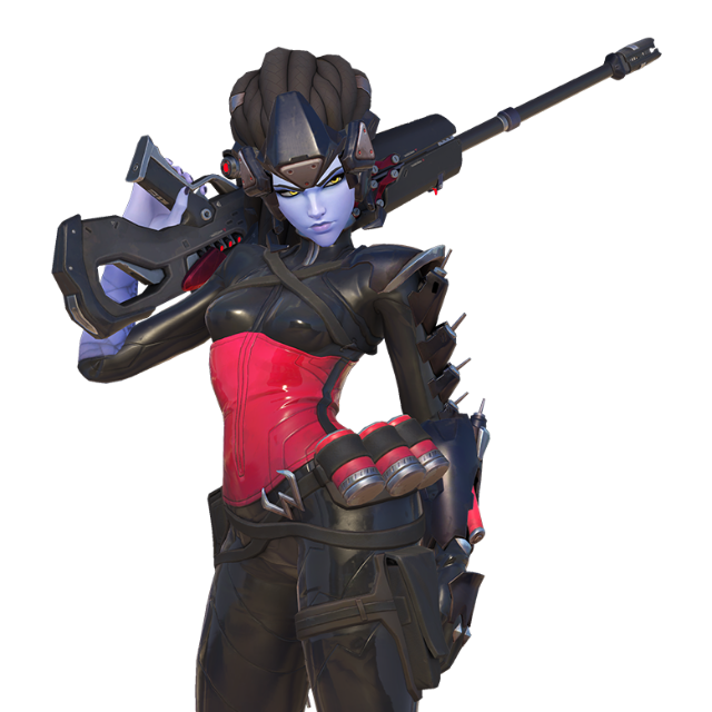 Black widow skin pc. Overwatch widowmaker png