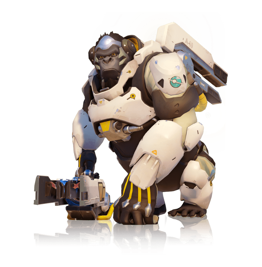 Full body transparent stickpng. Overwatch winston png