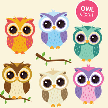 Owls clipart. Owl commercial use digital