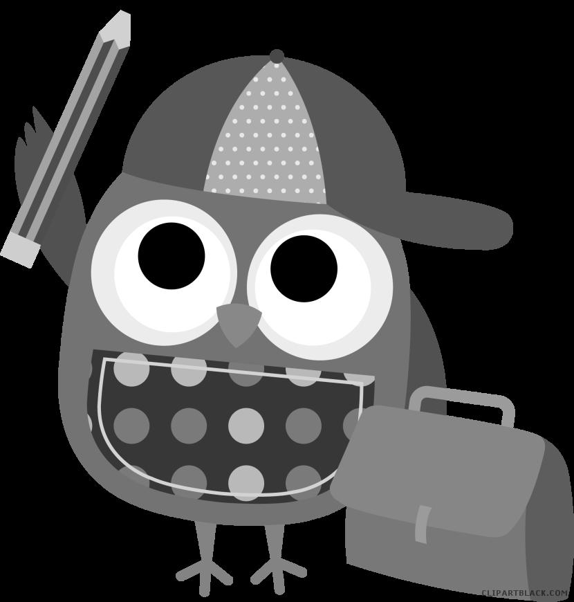 Clipartblack com animal free. Smart clipart smart owl
