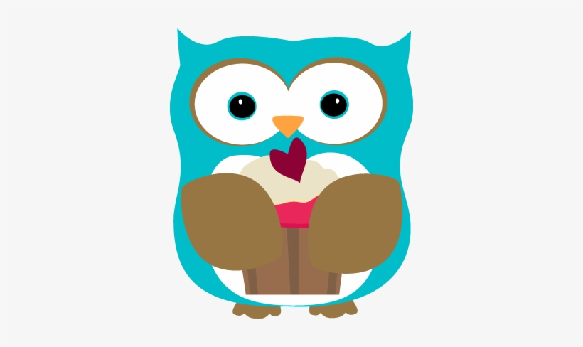 Eating a cute png. Owl clipart cupcake