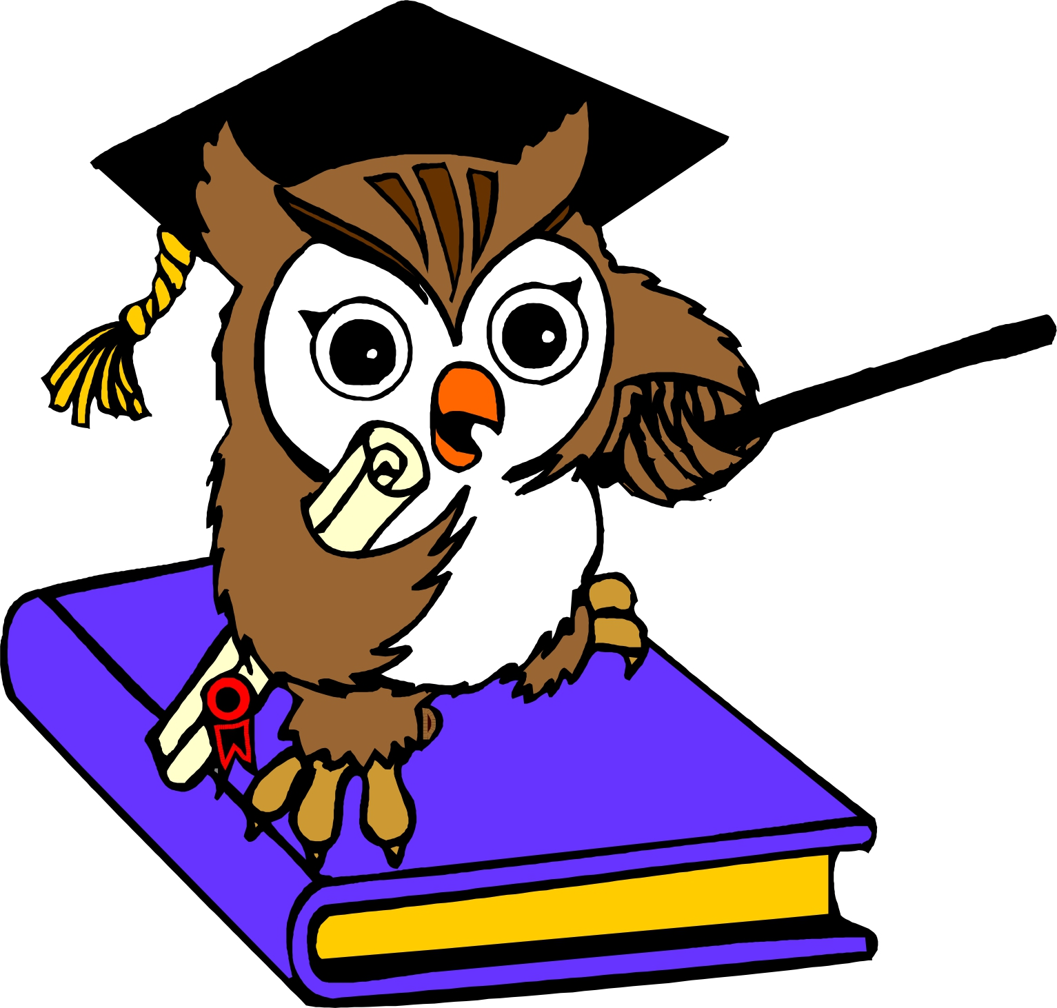 Free smart owl cliparts. Owls clipart education