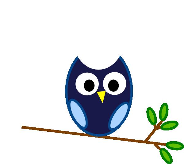 Owls clipart wise owl. Blue branch clip art