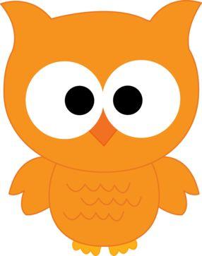 Owl clipart orange. Owls