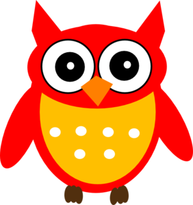 Owls clipart red. Owl clip art at