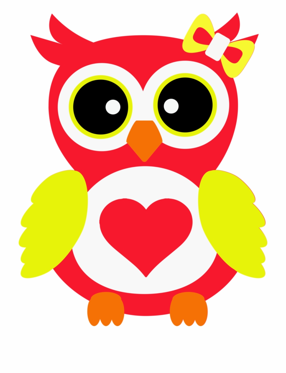 Owl cartoon transparent png. Owls clipart red