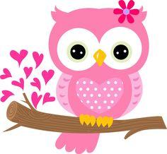 Cute clip art set. Owls clipart